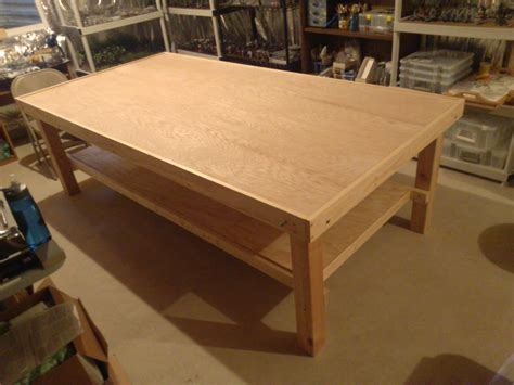 custom gaming table what s on your table an 8 215 4 custom gaming table