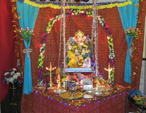 ganpati decoration at home decoration ideas for ganesh chaturthi ganesh decoration