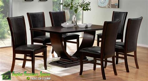 Meja Makan Set 6 Kursi Konde modern dining table sets dining table modern and chairs
