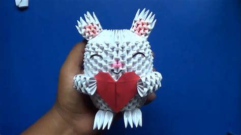 imagenes en 3d origami origami 3d conejo con coraz 243 n youtube