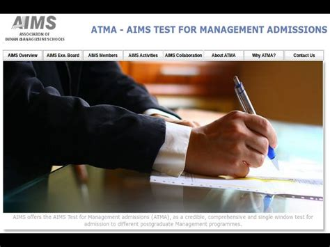 Atma Mba Date by Aims Test For Management Admissions Atma 2015 Dates