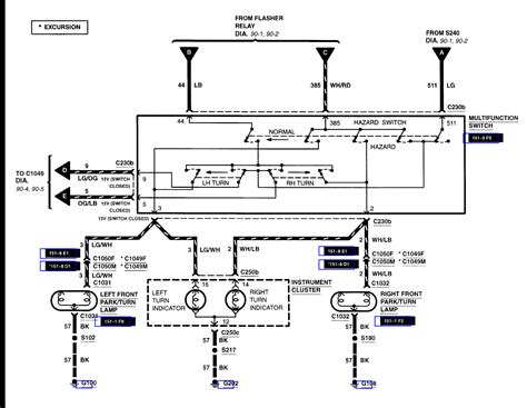 the wiring diagram for ford f350 flasher
