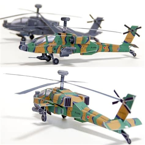 Papercraft Helicopter - helicopter papercraft ah 64 apache avion