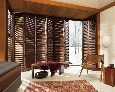 enhancing your interiors with modern wood shutters hunter douglas newstyle hybrid shutters are plantation