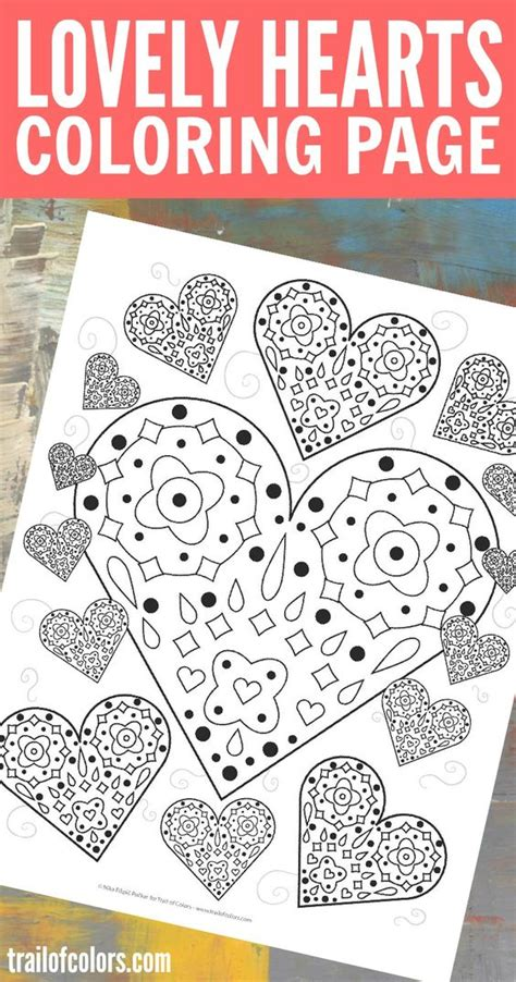 intricate valentine coloring pages lovely hearts coloring page free printable