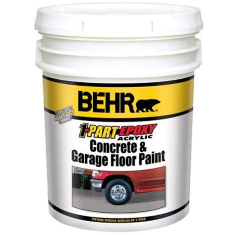 1 Gal Satin 1 Part Epoxy Acrylic Concrete And Garage Floor Paint - behr 5 gal slate gray 1 part epoxy floor paint 90205