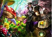 Psychedelic Alice In Wonderland Art Mad Hatter Digital
