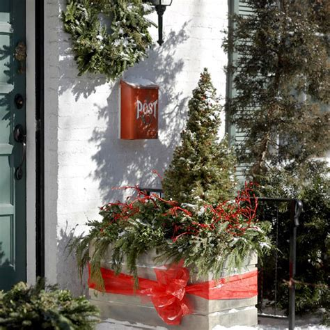 Garten Weihnachtlich Dekorieren by Weihnachtliche Dekoration F 252 R Einen Festlichen Hauseingang