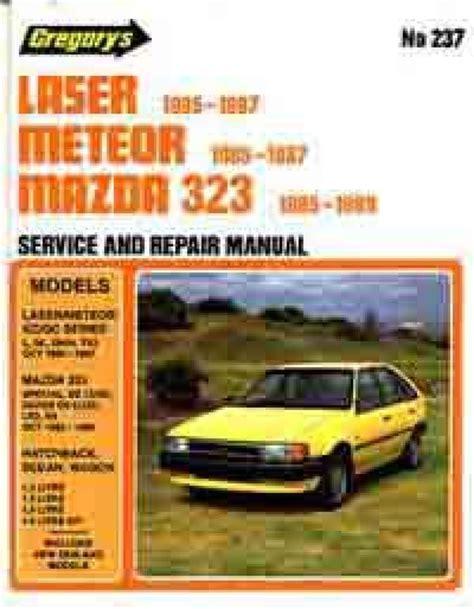 vehicle repair manual 1989 ford laser engine control mazda 323 fwd ford laser kc meteor gc 1985 1989 sagin