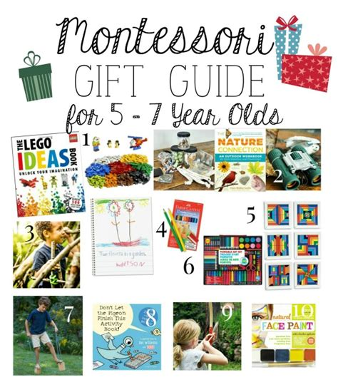 montessori gift guide for 5 7 year old s