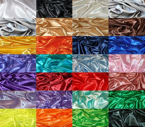 fabric crafts satin silky satin fabric per 1m metre plain luxury dress craft