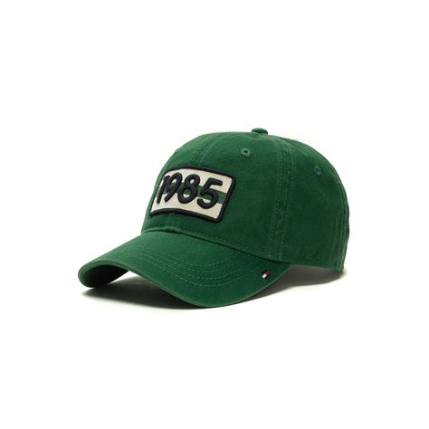 hilfiger baseball cap in green for green