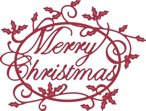 cheery lynn designs cutting die merry christmas holly