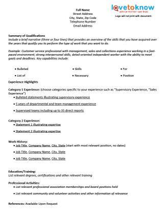 Business Templates Free Just Fill In Free Blank Resume Form Lovetoknow