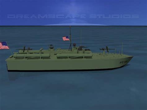 pt boat elco elco pt boat pt155 3d model rigged max obj 3ds lwo lw lws