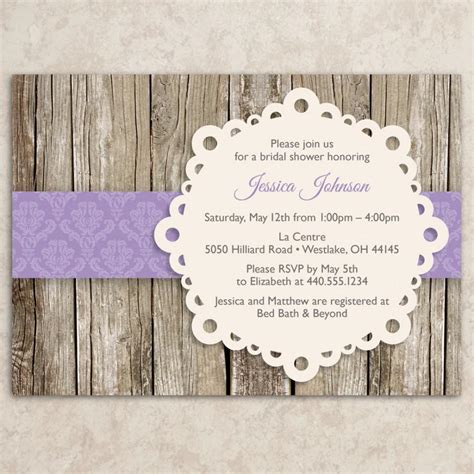 Diy Baby Shower Invite by Rustic Bridal Shower Invitation Diy Printable Jpeg File