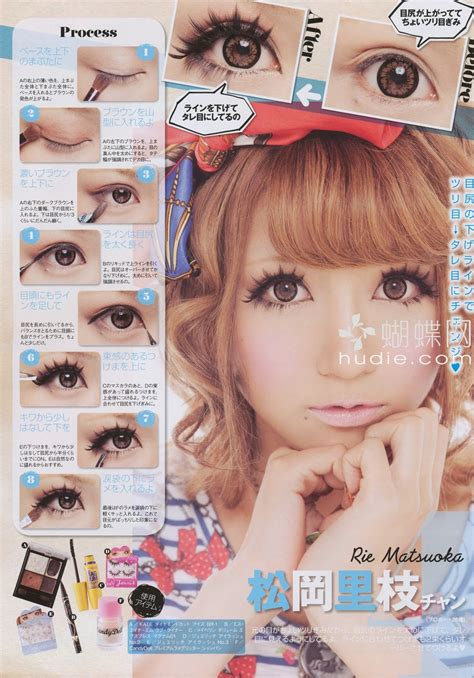 tutorial makeup doll eyes ariska pue s blog gyaru eyes makeup part 2
