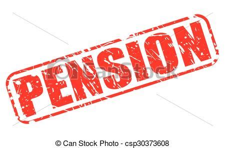 clipart pensione pension st text on white