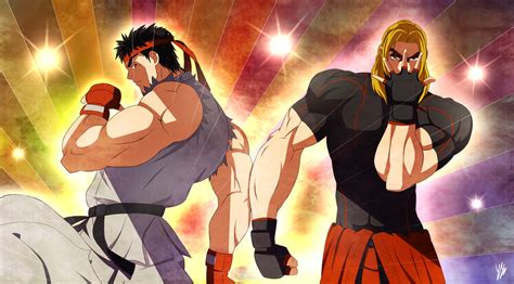 jojo anime art style ryu and ken jojo s style by ringoandou on deviantart