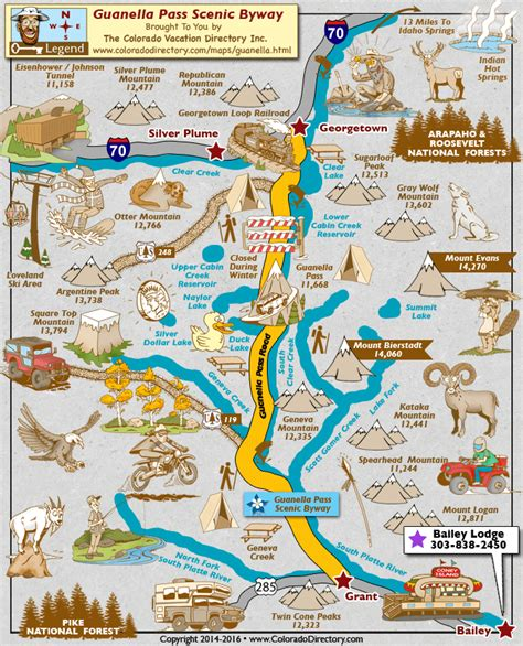 map of colorado mountain passes guanella pass scenic byway map colorado vacation directory