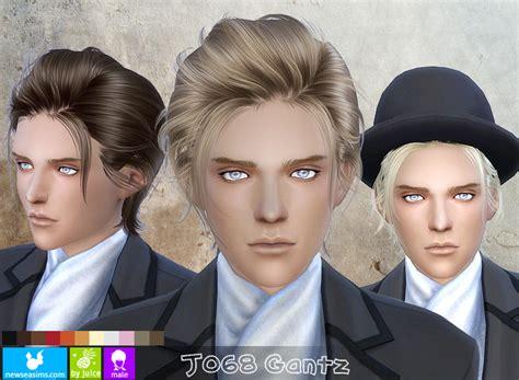 long hair for guys sims 4 cc sims 4 hairs newsea j068 gantz hairstyle