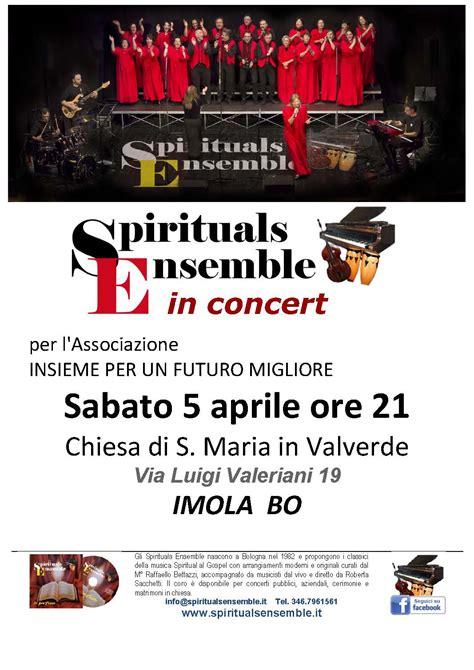 libreria coop imola elenco concerti spirituals e gospel a bologna
