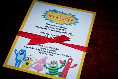 via gabba magnificent yo gabba gabba birthday invitations