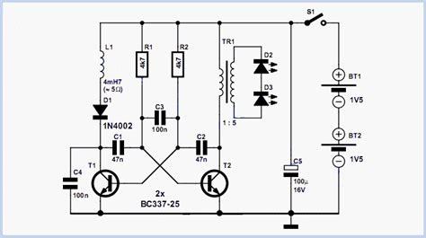 gambar kapasitor 100n rangkaian obor led 2 cell gambar skema rangkaian elektronika