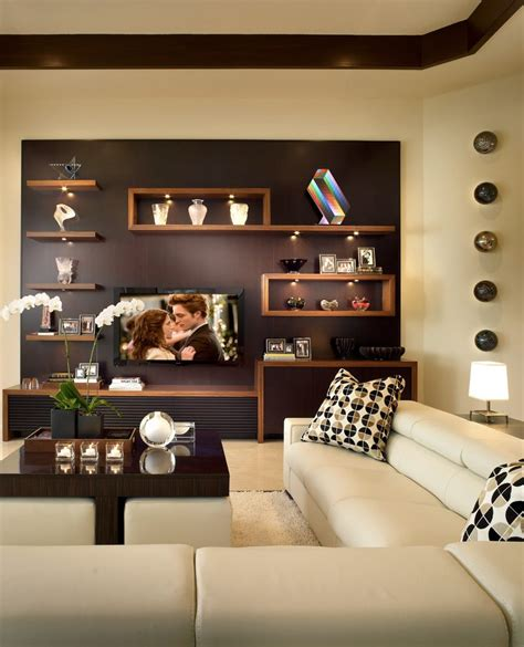 family room wall ideas floating wall shelves decorating ideas family room contemporary with dark stained wood tray
