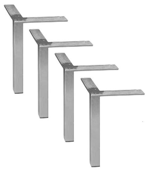 4 diy square brushed steel chrome bench coffee table