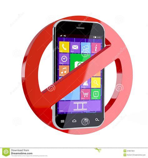 aucun signe de telephone portable illustration stock