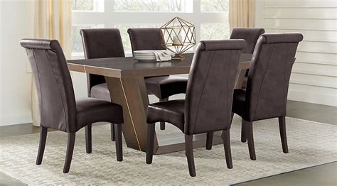 espresso dining room furniture ambassador place espresso 5 pc rectangle dining room