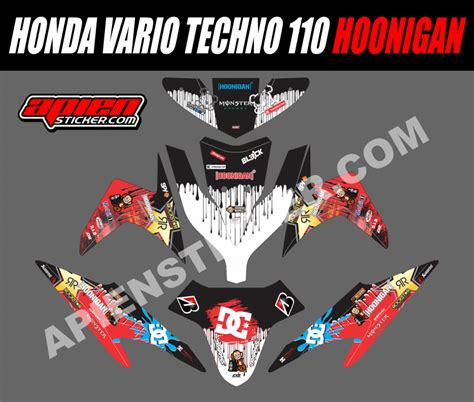 New Sticker Striping Motor Stiker Satria Fu Hoonigan Car Spec striping motor vario techno 110 hoonigan apien sticker