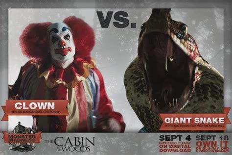 quella casa nel bosco mostri clown vs snake the cabin in the woods photo