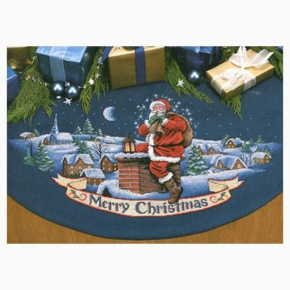 merry christmas santa tree skirt  dimensions gold collection cross stitch kits kits