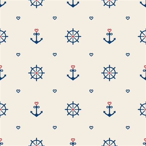 nautical pattern vector nautical elements pattern design vector free download