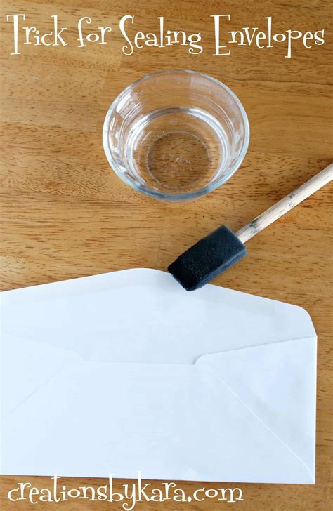 how to seal an envelope without it