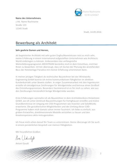 Anschreiben Architekt Absolvent Bewerbung Als Architekt Architektin Jobguru
