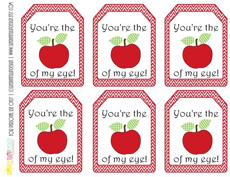 printable apple gift tags printable teacher appreciation gift tags you re the apple