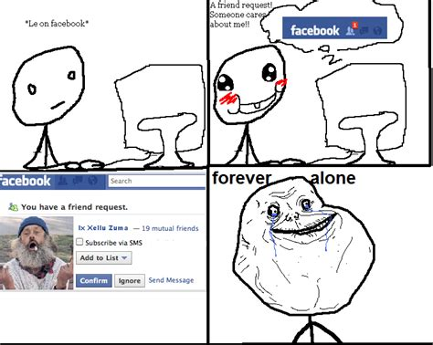 Meme Comic Facebook - facebook forever alone by rbc comics on deviantart