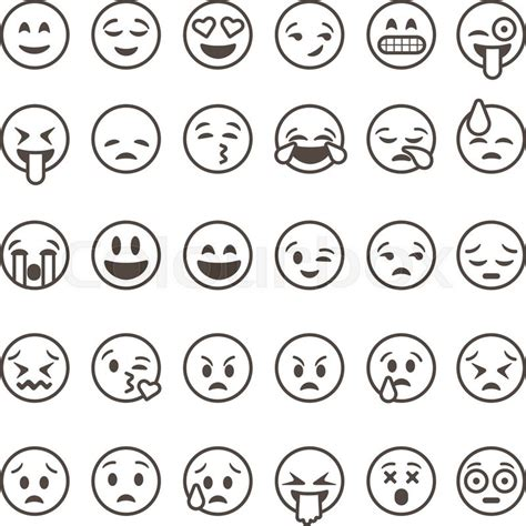 white wallpaper emoji image gallery emoticon outline
