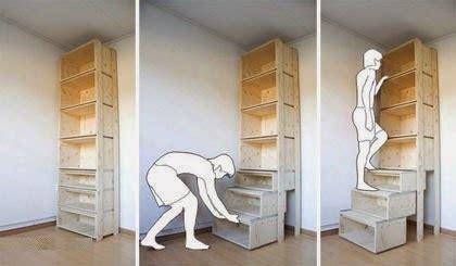 wardrobe ladder creative space saver furniture stairs designs