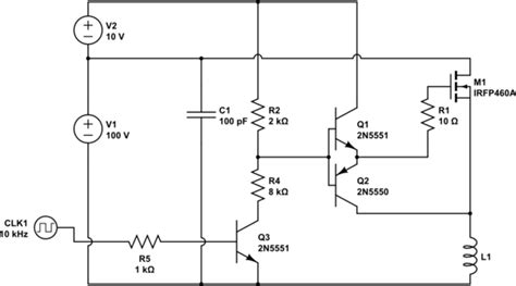 transistor high side driver emitter follower controlling the base of a n channel