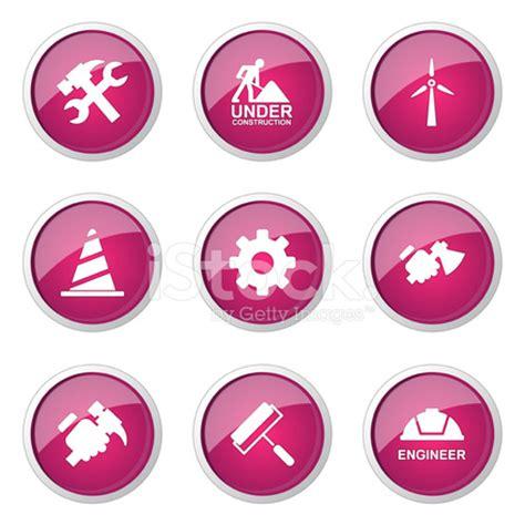design icon button free 施工工具粉红色矢量按钮图标设计集 2 stock vector freeimages com