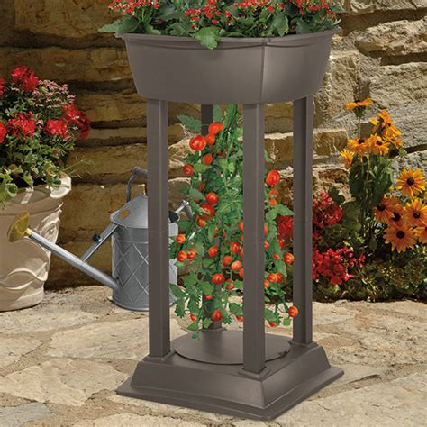 Planter Tower by Suncast Up Tomato Tower Planter Station Outdoor Pots And Planters By Meijer