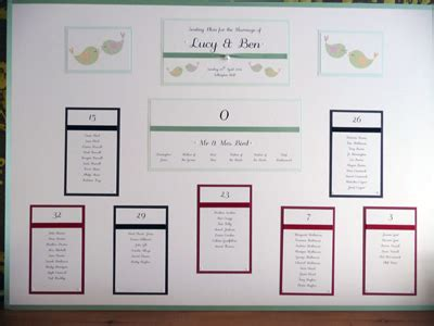wedding table plan design ideas casino number themed wedding table plan with a bird theme