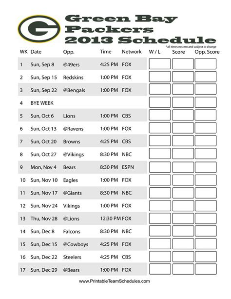 green bay packers printable schedule 2014 2015 autos post