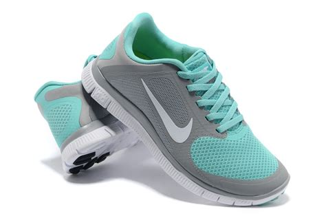 nike womens turquoise running shoes el 656375 womens nike free 4 0 v3 running shoes grey