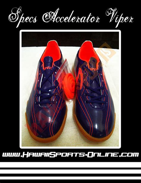 Sepatu Futsal Specs Accelerator Viper toko olahraga hawaii sports sepatu futsal original specs accelerator viper in eggplant