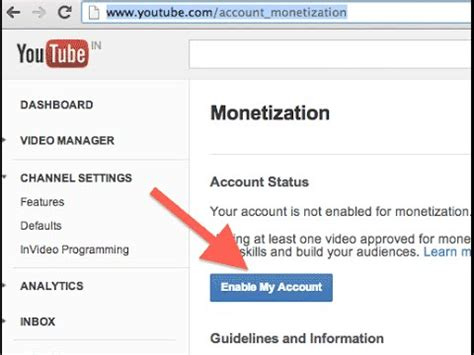 adsense youtube monetisation how to enable monetization in your youtube channel to earn
